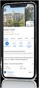 movil con app google my business